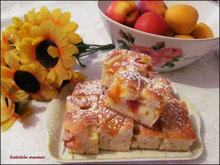 Prajitura cu caise si nectarine