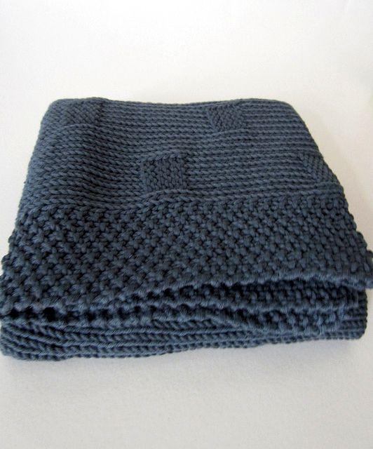 Une couverture bébé à tricoter en PurPle Mérinos