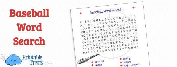 Giants : Baseball Team Word Search