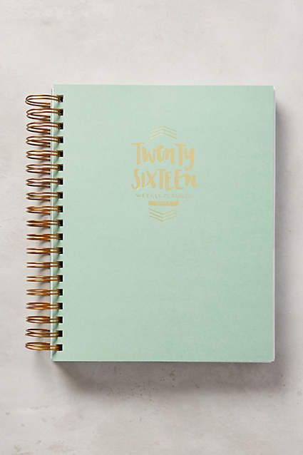 Wise Words Planner - anthropologie.com LOVE the mint