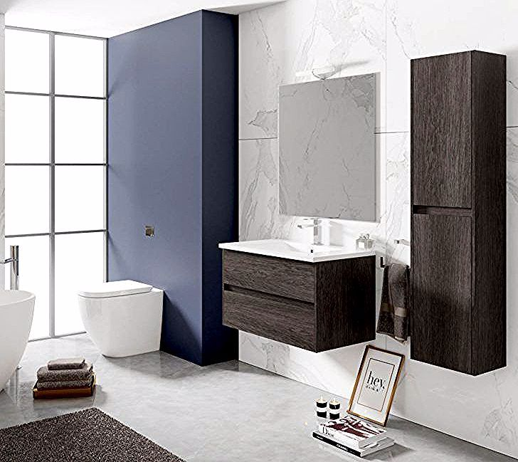 Interior Design Meuble Salle De Bain Bois Ensemble Salle Bain Lerma Meuble Suspendu Bois Fonce Cm Muratti03 But Chaise Hau In 2020 Vanity Single Vanity Bathroom Vanity