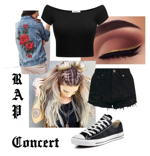 """Rap concert outfit idea"" by majesticmermaid on Polyvore featuring Converse"