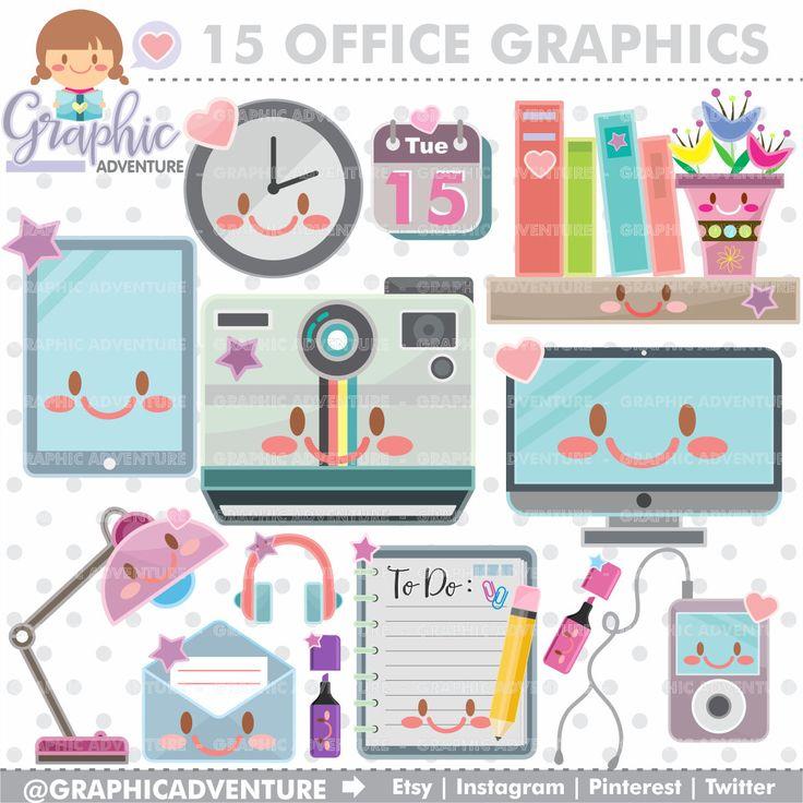 Bürobedarf clipart  Die 25+ besten Ideen zu Clipart office auf Pinterest | Papier clip ...