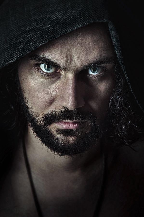 Anger, expression, emotional, powerful face, beard, man, intense eyes, beauty, portrait, photo