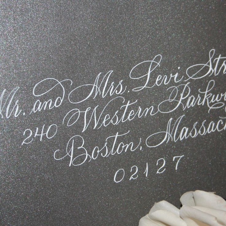 25 Best Ideas About Calligraphy Wedding Envelopes On