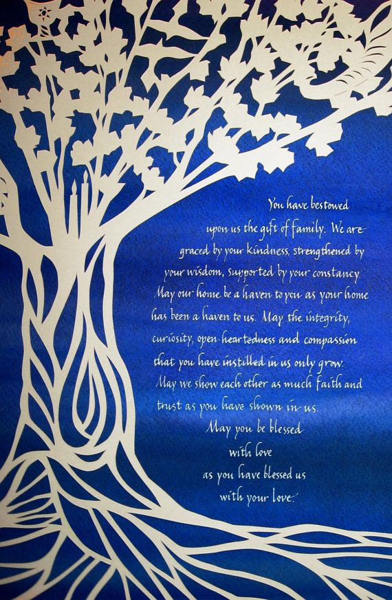 Papercut Wedding Gift For Parents Based On Sabbath Tree What A