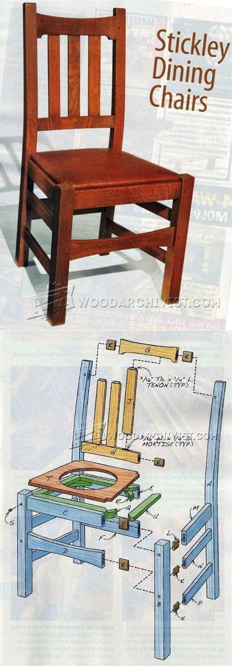 Stickley Chair Plans - Furniture Plans and Projects | WoodArchivist.com