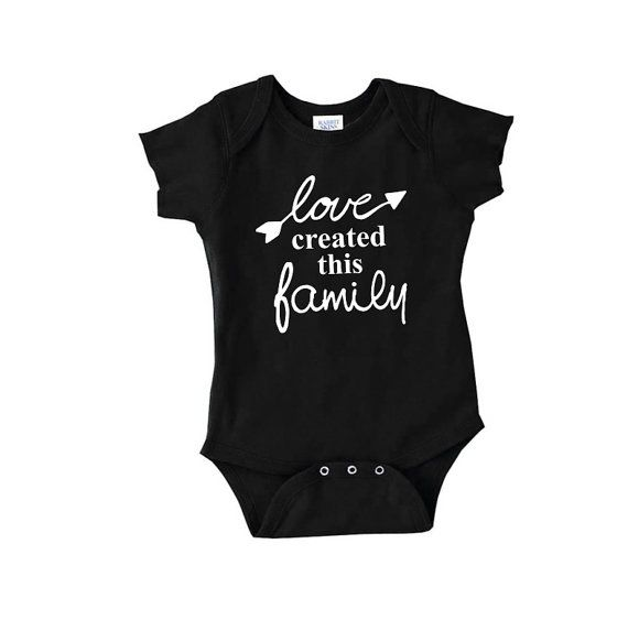 Love created this family cute baby onepiece childrens clothing new mom body suit crawler romper t shirt 2t 3t onesis gay lesbian adoption on Etsy, $14.99