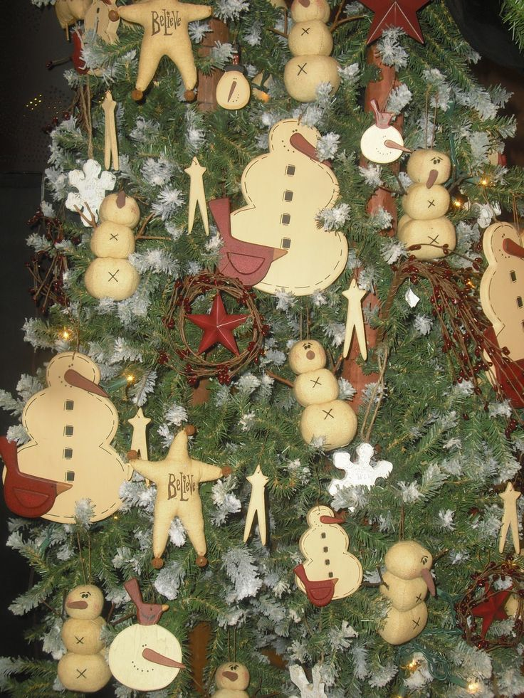 Primitive Country Christmas Tree Decorations