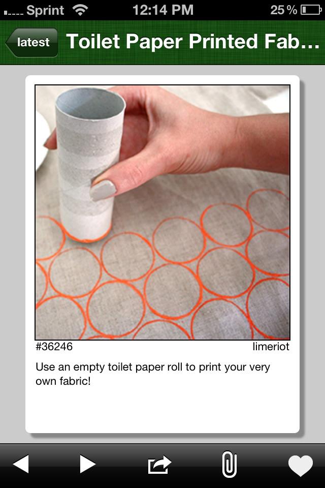 DIY printed fabric