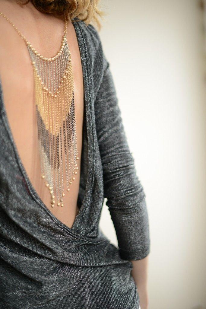 Patron afterwork - dos-nu - tuto je m'habille en collier #vanessapouzet…