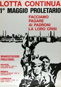 Lotta Continua per le manifestazioni del primo maggio 1971.