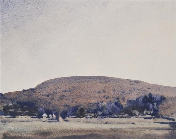 Blamire Young - After Drought, watercolour