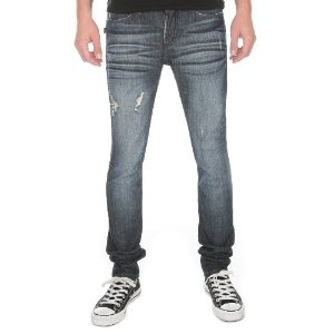 Social Collision Dark Blue Distressed Skinny Jeans (Apparel) http   www. 71349a5a43
