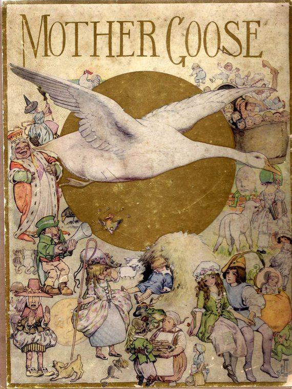 """1:12 scale """"Tales of Mother Goose"""" by Charles Perrault, 1697, dollhouse miniature vintage printed opening book – Products"""