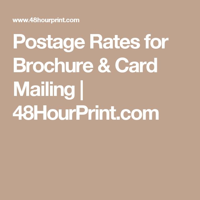 Postage Rates for Brochure & Card Mailing | 48HourPrint.com