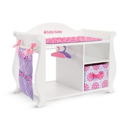 Bitty's Changing Table & Storage | furnbb | American Girl