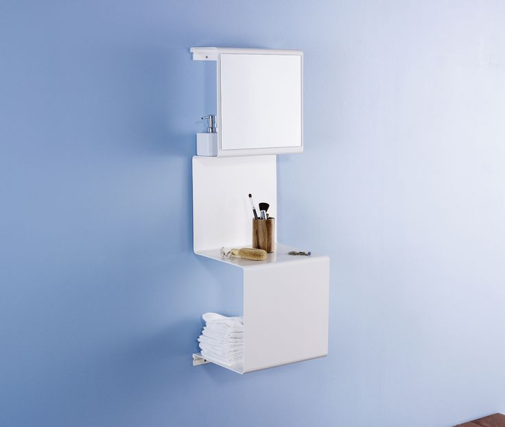 Showcase 3 with a mirror -in case your bathroom lacks space.