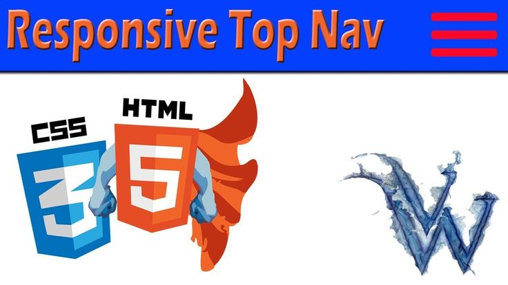 Responsive Top Nav With Dropdown | HTML5 and CSS3 Beginners Tutorials | ...