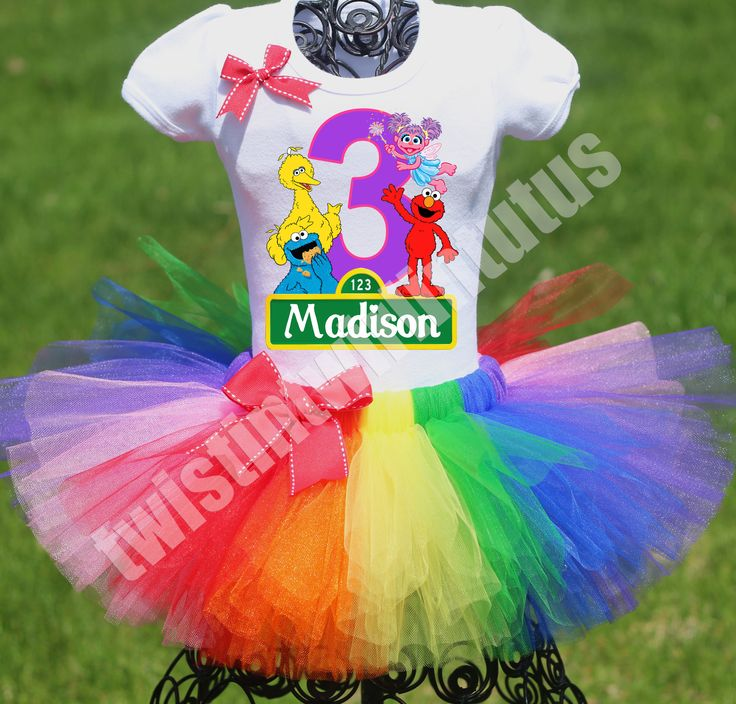 Sesame Street Birthday Outfit