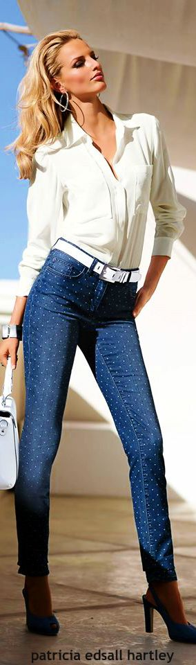 Madeleine ~ white shirt & denim