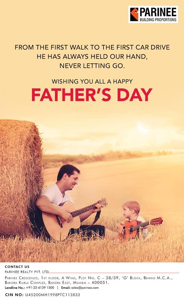 Parinee Realty Wishes All The Loving Fathers A Very Happy Father S Day Fathersday2018 Dadslove Neverendingbond Famil Happy Fathers Day Happy Father Father