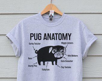 Pug On A Bike T shirt Dog Tshirt Pug Tee. Available In 3