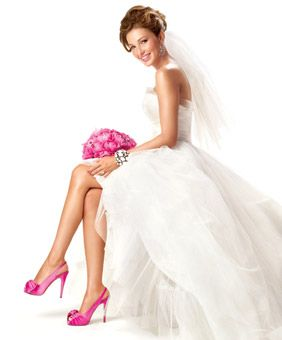 Pics Of Bride In Fuschia Shoes Wedding