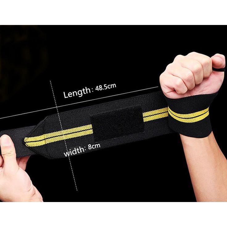 1 Pcs Pulseira Ginásio Levantamento De Peso Esportes Fitness Apoio Para O Punho Polegar Cintas de Segurança Treinamento Mão Wraps Bandage Bandas Com Alça