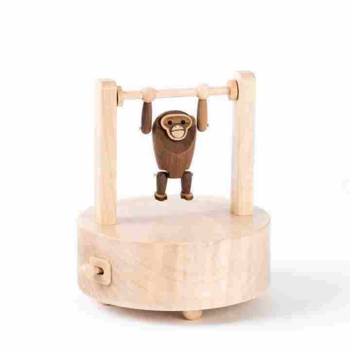 Hanging Orangutan Wooden Music Box - Wooden Music Boxes - Shop by Collection. Plays Mozart's The Magic Flute.