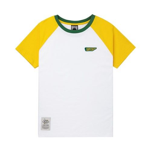 Two Tone Fly Patch Raglan Tee