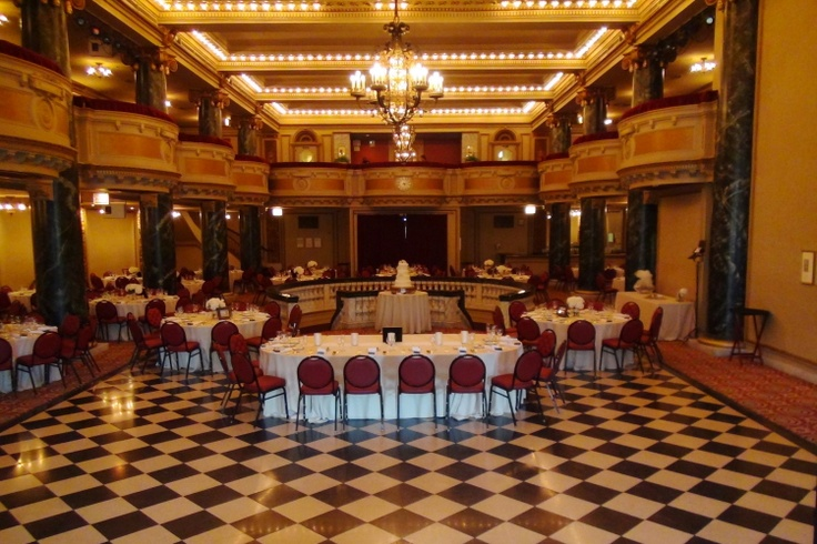 Bask in the glamour of the ballroom's  marble columns, its ornate chandeliers, its elegant balcony and its spacious terrazzo dance floor. http://www.discjockey.org/