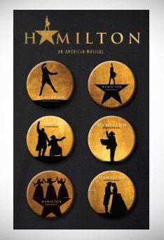 Hamilton Button Set - Souvenirs