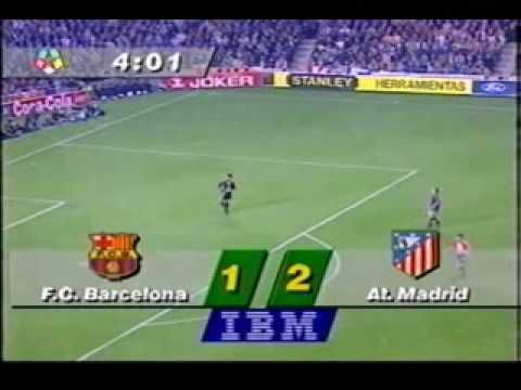 BARCELONA 1 - ATLETICO 3 - 1996 DOBLETE - AUDIO SER - INOLVIDABLE