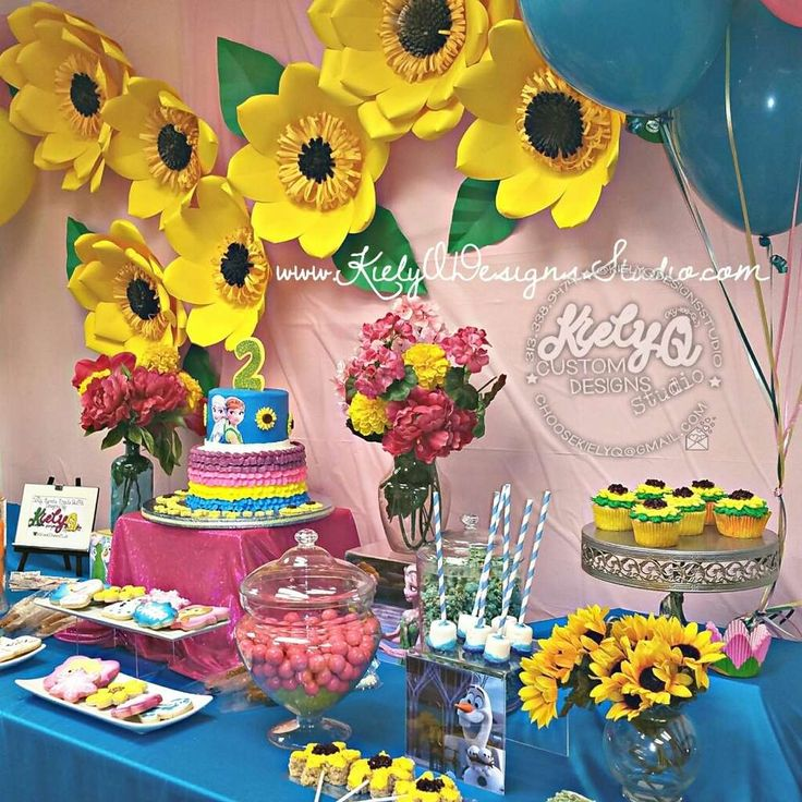 Gorgeous Frozen Fever birthday party! See more party ideas at CatchMyParty.com!