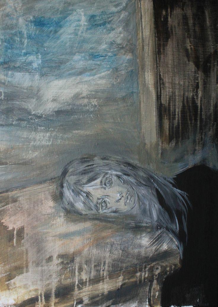 Gushtyuk Julia acrylic on canvas Despair