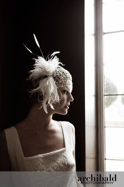 wedding hat 20ies inspired