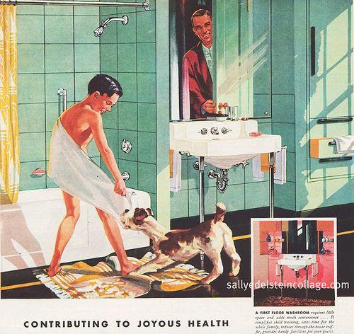 retro plumbing ads | Vintage Bathrooms Kohler Plumbing Ad 1946
