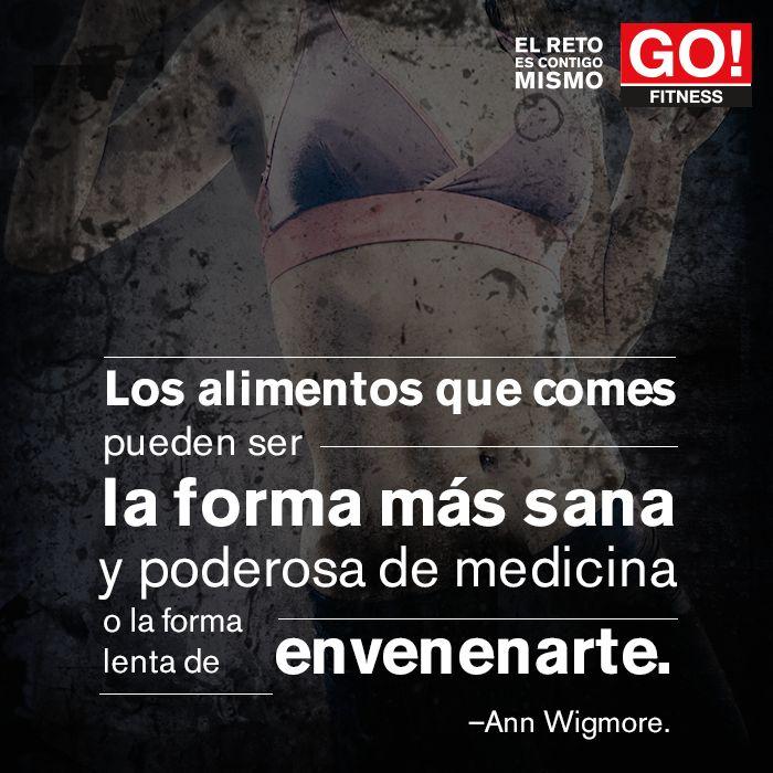 Ann Wigmore. #gofitness #clasesgo #ejercicio #gym #fit #fuerza #flexibilidad #reto #motivate #frases