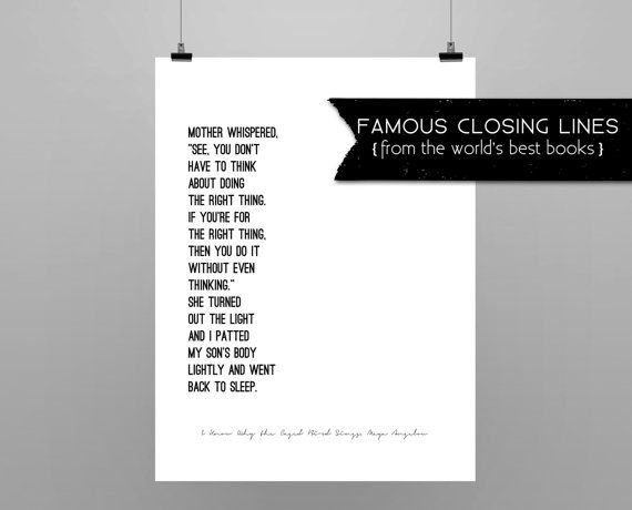 I Know Why the Caged Bird Sings // Maya Angelou // quote poster // minimalist // black and white //last line I Know Why the Caged Bird Sings...