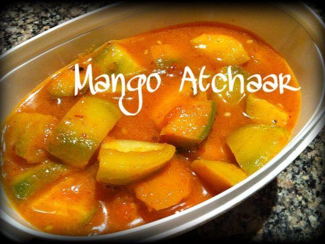 Sweet Sour Mango Atchaar