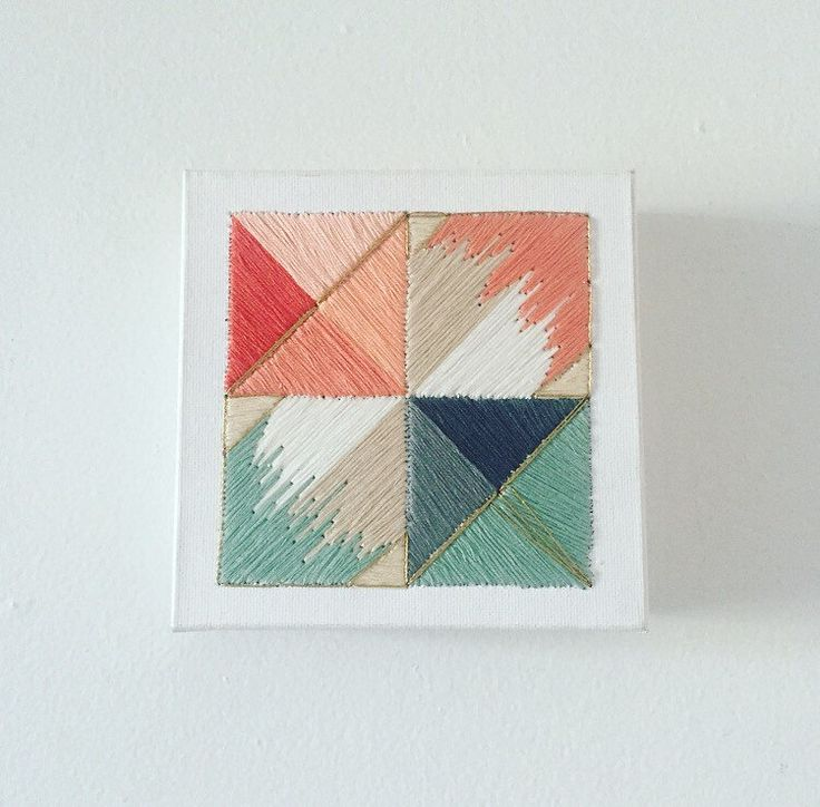 Michaelyn Schrock A personal favorite from my Etsy shop https://www.etsy.com/listing/467973942/handcrafted-geometric-embroidery