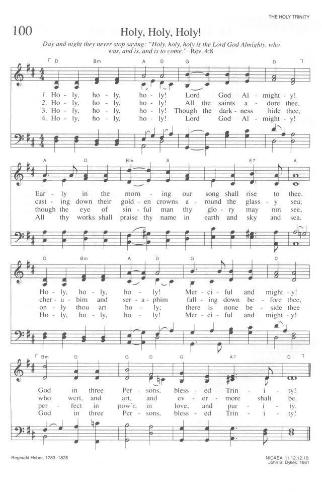 Holy, Holy, Holy! Lord God Almighty! - Hymnary.org