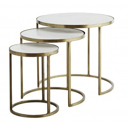 Up Your Style Ratings With Our Fabulous Marble Nesting Side Tables Three Are Uber Versatile And Handy For Small Es Too