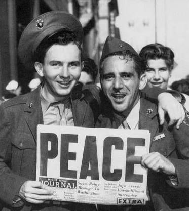 "WWII - ""Peace"" - V-J Day, August 14-15, 1945"