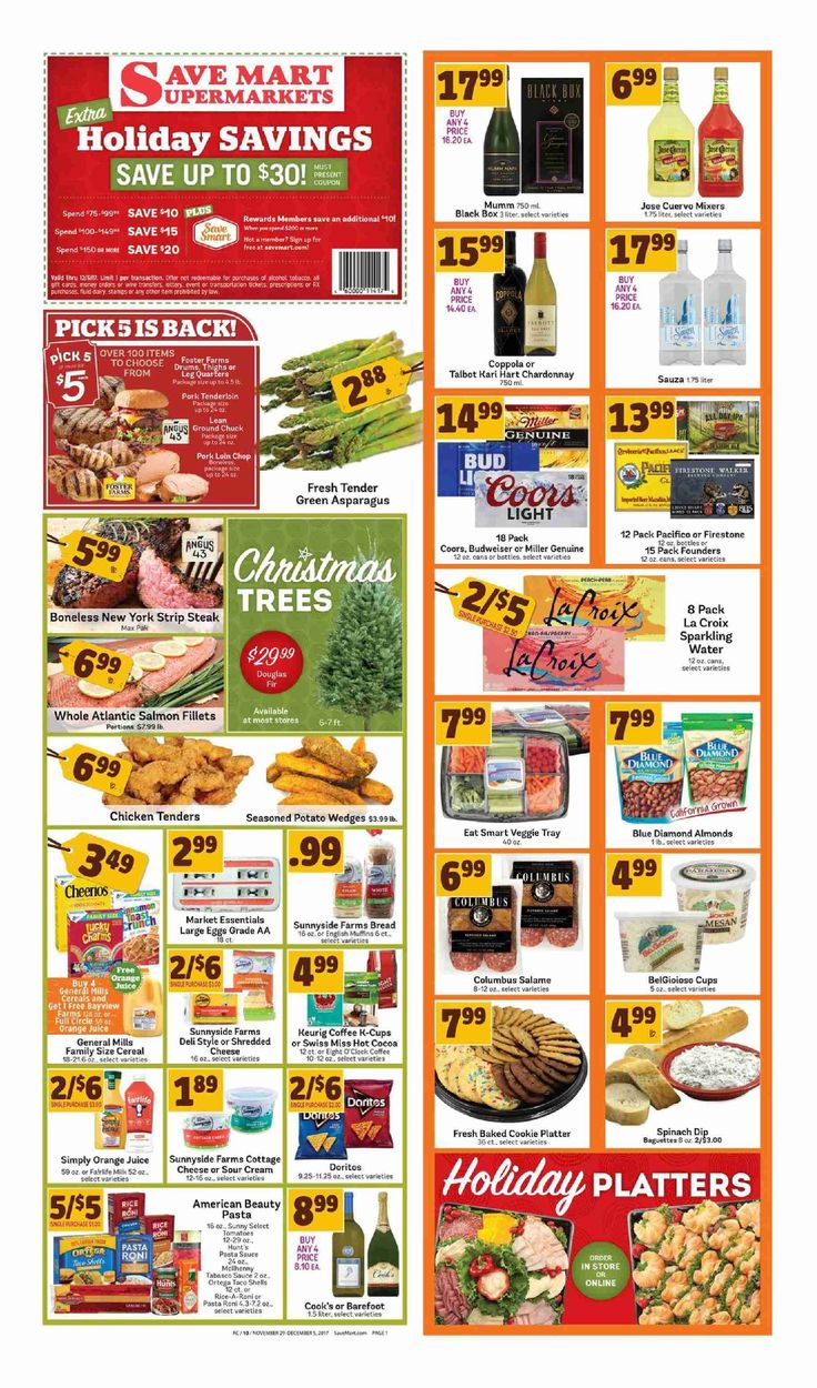 Save Mart Weekly ad November 29 - December 5, 2017 - http://www.olcatalog.com/save-mart/save-mart-weekly-ad.html