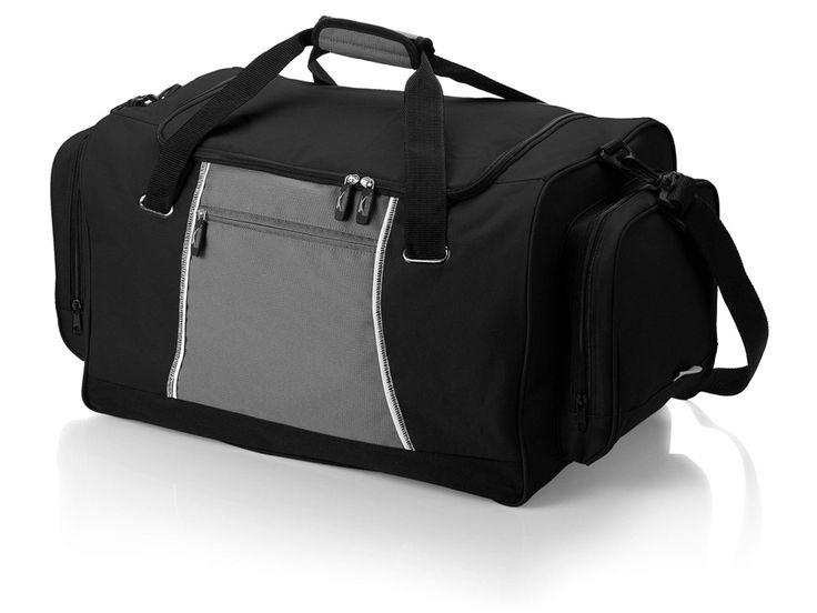 """Сумка спортивная """"Brisbane"""" Большая спортивная сумка. Основное отделение, два боковых кармана и передний карман на молнии."""