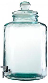 SHARE  distributeur de boisson en verre recyclé brut coloris transparent avec…