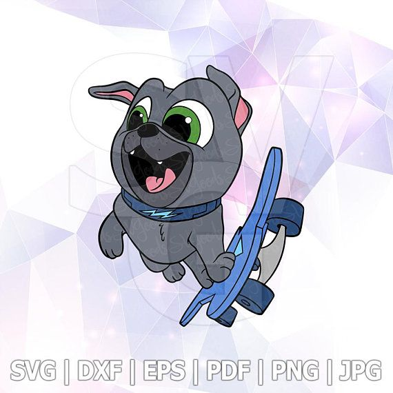 Bingo Skateboard Svg Layered Puppy Dog Pals Dxf Vector Cut Files