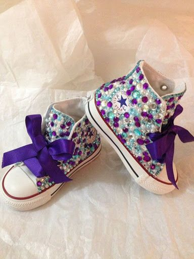 Rhinestone and pearl kids converse?